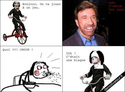 Saw VS Chuck Norris