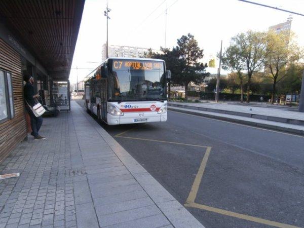 Ligne C7 à Gare Part-Dieu Vivier Merle