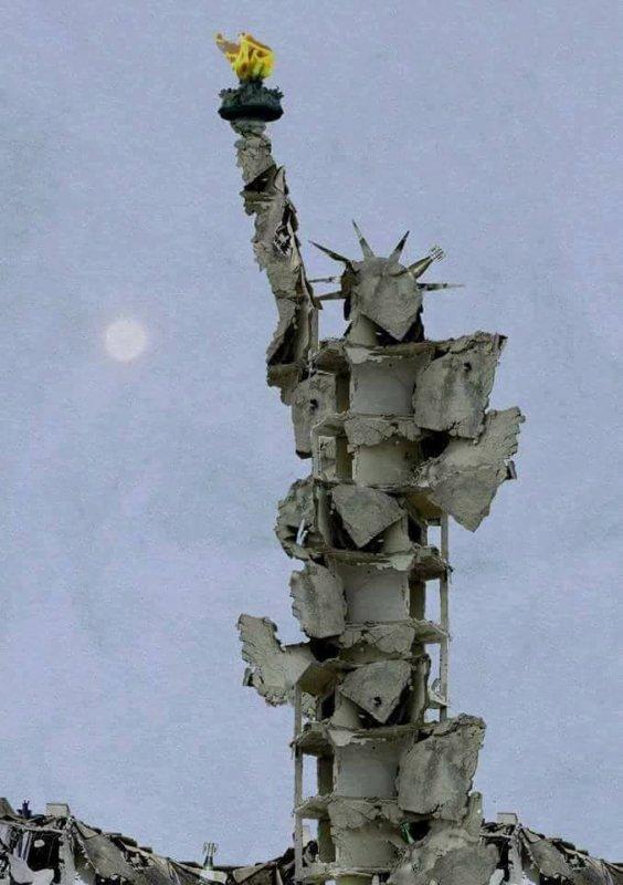 Un artiste syrien d'Alep vient de construire avec les décombres de sa maison detruite