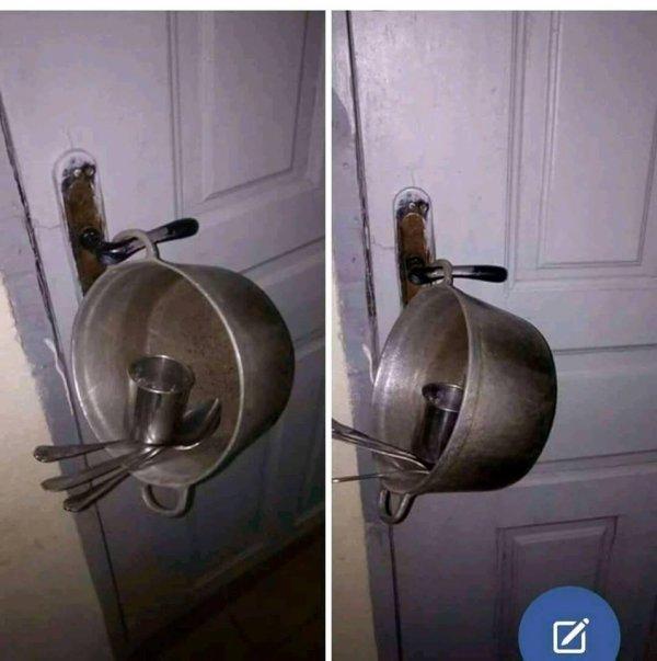 voici le nouveau système de sécurité anti vole..pas la peine de fermer à clé