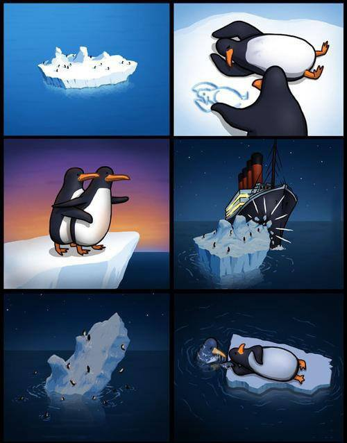 Titanic version pingouins