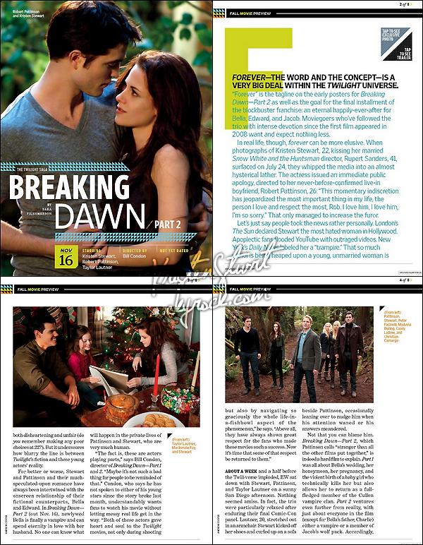 - De nouveaux stills de Breaking Dawn - Part. 2 viennent d'être dévoilées ! Avez-vous hâte de la voir? -