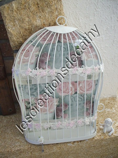 BOITE A CLES CAGE SHABBY CHIC