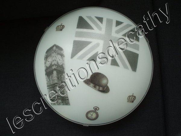 plafonnier London noir et blanc