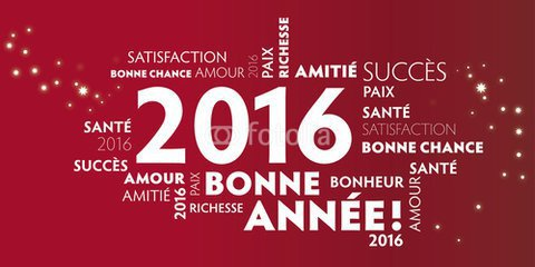 BONNE ET HEUREUSE ANNEE 2016 !!!