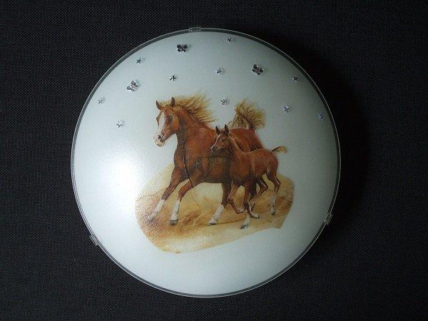 plafonnier thème cheval, jument et son poulain