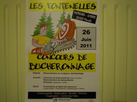 2eme CONCOURS DE BUCHERONNAGE LES FONTENELLES (25)