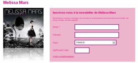 2011 Jul 12 - Inscrivez-vous à la newletter de Melissa Mars