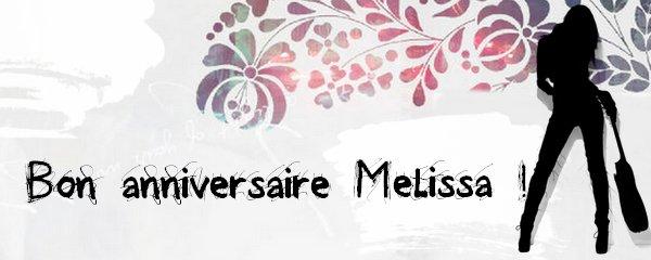 2012 Sept 3 - Un très joyeux anniversaire à Melissa Mars ! #BonAnniversaireMelissaMars