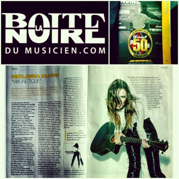 2013 Jan 12 - Deux pages sur Melissa Mars dans «La Boite Noire du Musicien . com»