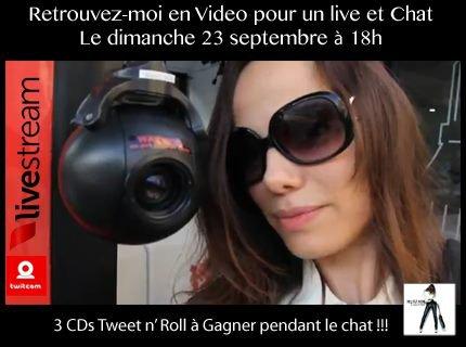 2012 Sept 19  - Twitcam de Melissa Mars le 23 Septembre à 18H !