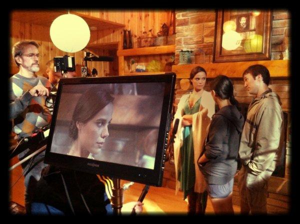 2012 Oct 15 - Fin de tournage pour le film THE CABINING avec Melissa Mars