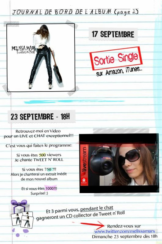 2012 Sept 01 - Le journal de bord n°2 de Melissa Mars !