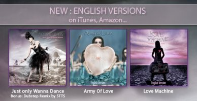 2012 Jan 23 - Just Only Wanna Dance, Army Of Love, Love Machine : English Versions