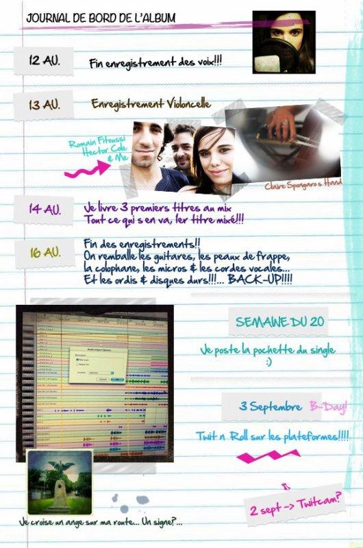 2012 Aug 19 - Le journal de bord de l'album de Melissa Mars