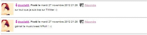 """2012 Dec 08 - Ils aiment """"Tweet N' Roll"""" de Melissa Mars & vous?"""