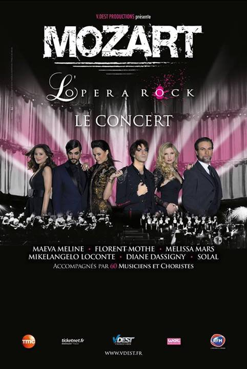 "2014 March 13 - Les dates de la tournée ""Mozart l'Opera Rock le concert"""