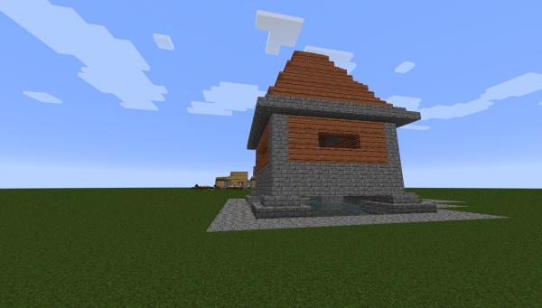 ma premier maison minecraft faite avec une manette