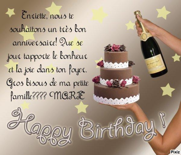 Henriette Nous Te Souhaitons Un Joyeux Anniversaire Que Ta Journee
