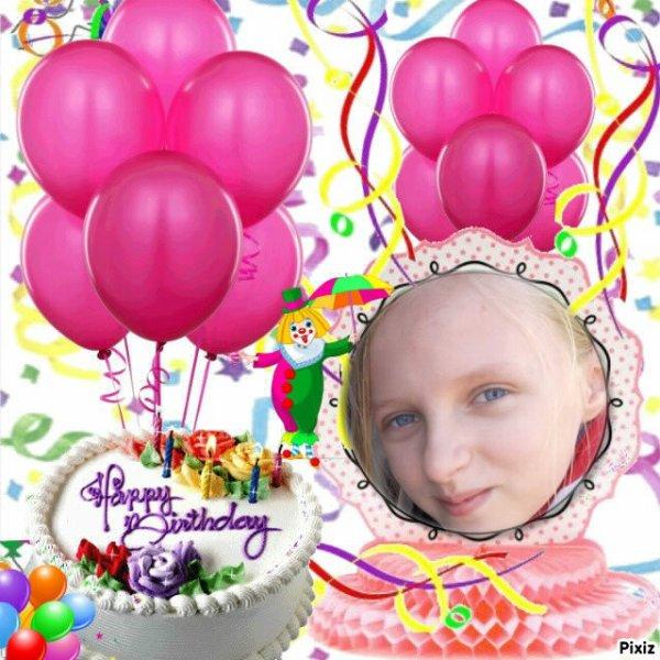Nous Souhaitons Un Joyeux Anniversaire A Notre Fille Alexia 12 Ans