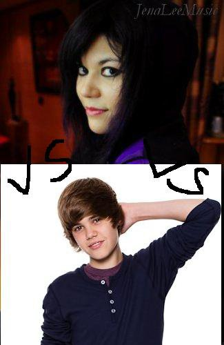Jena lee VS justin bieber