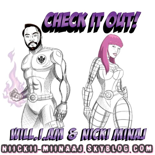 "* * *  NICKI MINAJ -Couverture Officielle du single ""CHECK IT OUT"" de NICKI MINAJ Feat.Will.I.Am    * * *"