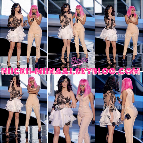"NICKI MINAJ &  Katy Perry . SHOW -  "" MTV Video Music Awards "" 2010"
