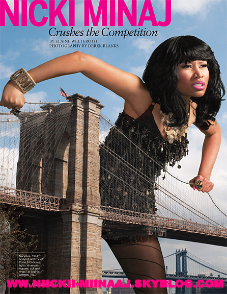 "NICKI MINAJ - COUVERTURE DE ""Ebony Magazine """