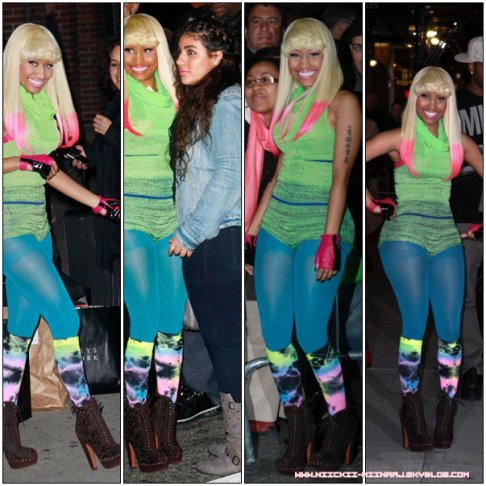 NICKI MINAJ @ Late Show With David Letterman & Visits Kings Of Leon Visit fuse Studio (Nov18)
