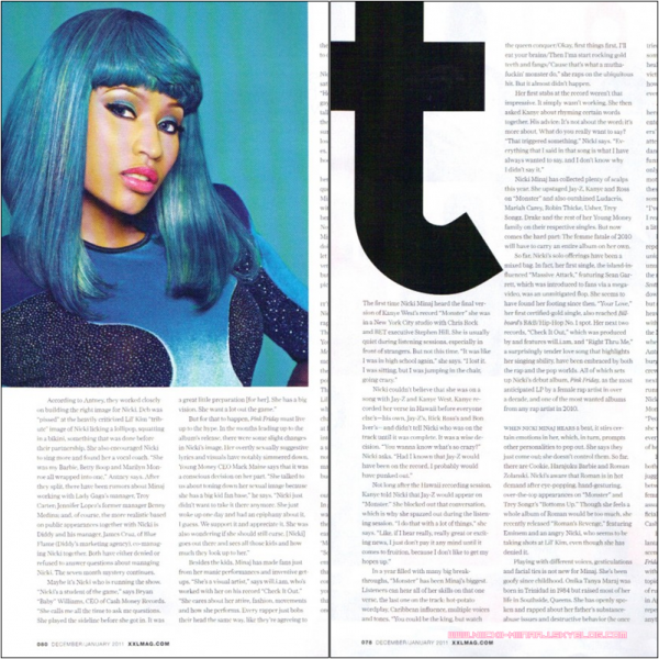 NICKI MINAJ -  XXL Magazine Scans