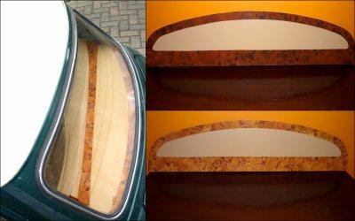 """La Plage arrière Mini modèle """" Wood & Leather """""""
