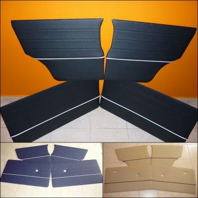 """Set complet de panneaux de portes pour Mini de 1970 à 2000 - Modèle """" Avec Liseret  """""""