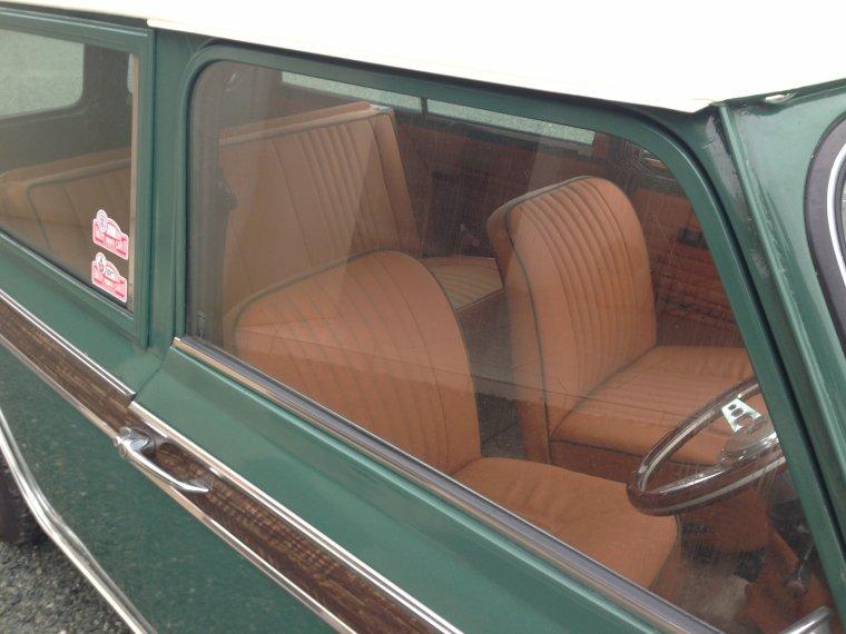 Le rendu de la conception Vintage Havane & Vert Anglais, pour la MINI Clubman de Pierre-Antoine