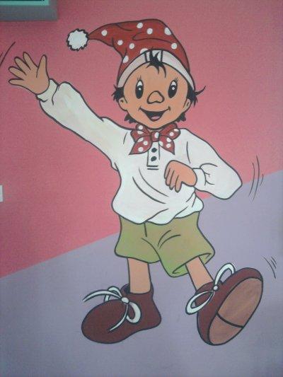 dessin sur le mur d'une école privé