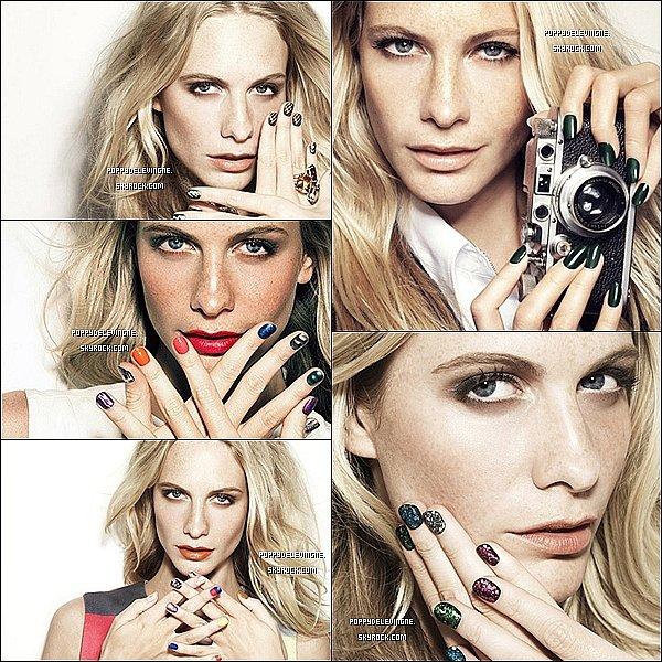 . (Re)Découvrez un shoot de Poppy pour la nouvelle campagne de Nails inc..