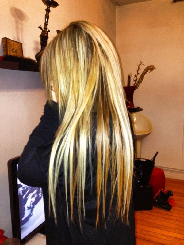 Extension De 46 Cm De 100 A 200meches Blond Platine Et