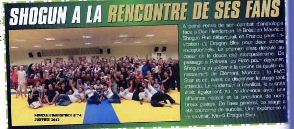RETOUR DU STAGE DS LA PRESSE MMA DE JANVIER 2012
