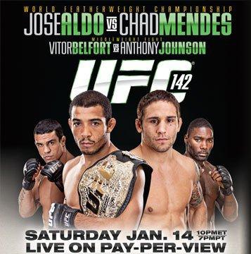 UFC 142 A RIO JOSE ALDO VS MENDES ET VITOR BELFORT VS JOHNSON
