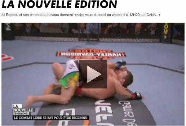 reportage DE CANAL PLUS SUR LE MMA EN FRANCE AVEC DES EXTRAITS DE LA VENUE DE WANDERLEI SILVA A PARIS LEVALLOIS PERRET