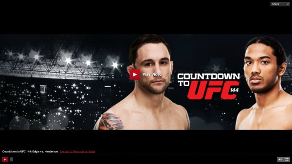 COUNDDOWN TO UFC 144