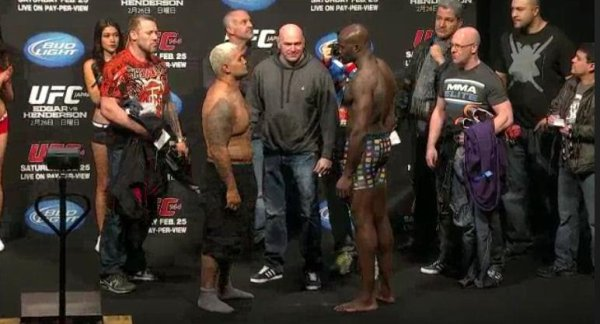 LA PESEE UFC JAPAN 144 CHEICK KONGO 229LBS MARK HUNT 263