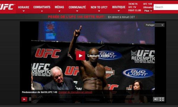 LA PESEE UFC 149 AVEC CHEICK KONGO QUI REPRESENTE LA FRANCE CATEGORIE POID LOURDS HEAVYWEIGHT