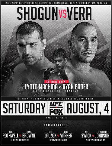 UFC ON FOX MAURICIO RUA SHOGUN VS BRANDON VERRA