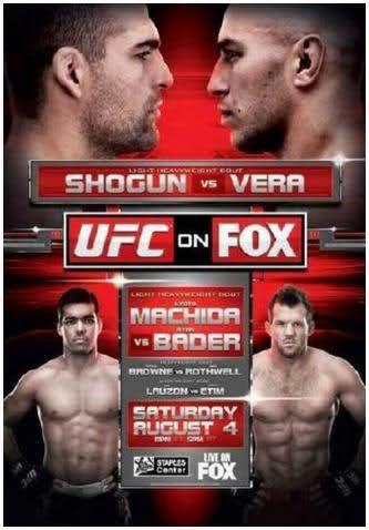 UFC MAURICIO RUA SHOGIN VS BRANDON VERRA