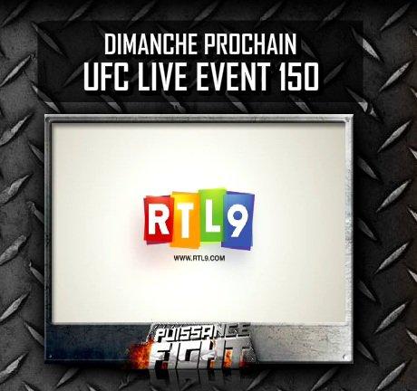 CE SOIR SUR RTL9 COMMENTAIRES EN FRANCAIS UFC 150