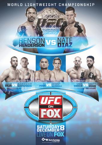 UFC ON FOX DU SAMEDI  8 DECEMBRE 2012
