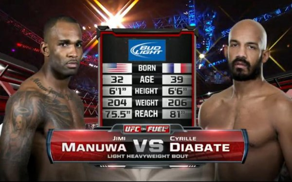 UFC ON FUEL 7 CYRIL DIABATE VS JIMI MANUWA A 1H46MIN48S