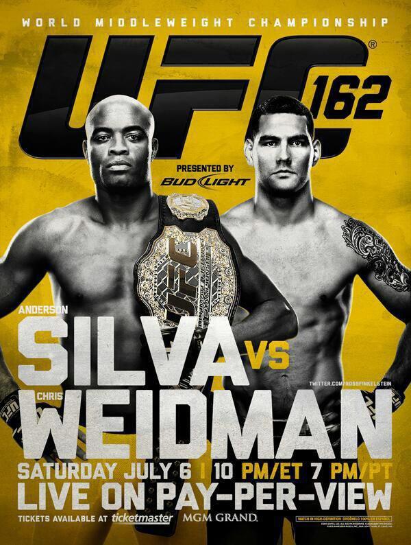 UFC 162 ANDERSON SILVA VS CHRIS WEIDMAN POUR LA CEINTURE POIDS MIDDELWEIGHT