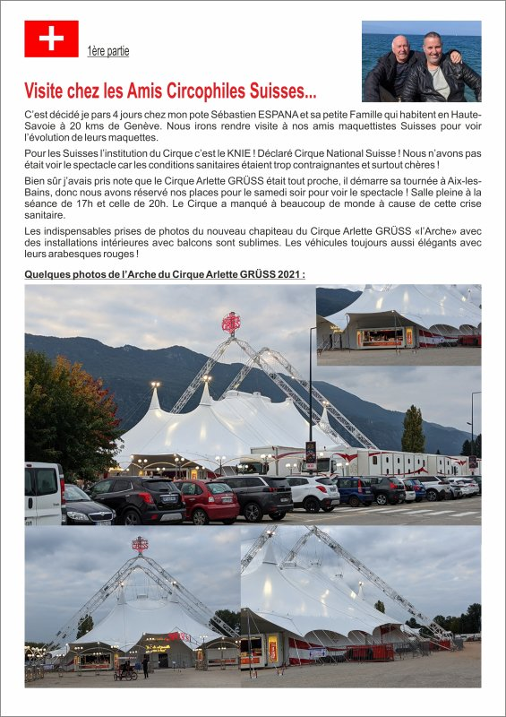 Visite chez les Amis Circophiles Suisses...