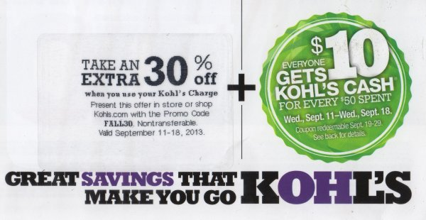 Kohls Coupon Code & Promo Code For 30% Off